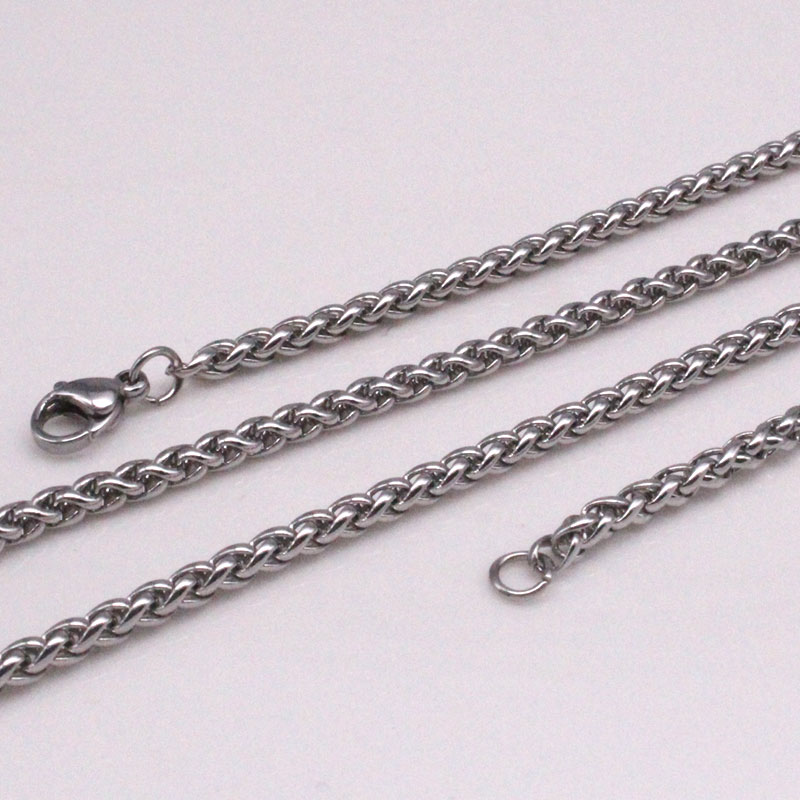 Zkd largeur 5mm/0.12 pouces 60 cm chaîne en acier inoxydable collier pour homme femmes bonne qualité