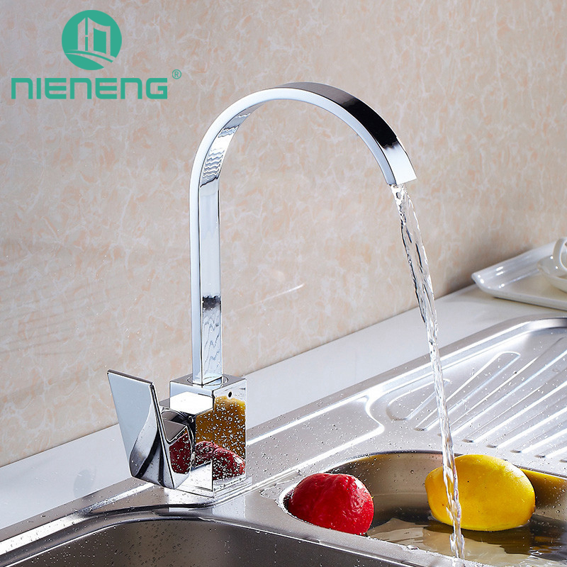 Nieneng Square Kitchen Faucet Fixtures Torneira Decoration Cozinha Faucets Tap For Water Filter Furniture ICD60398