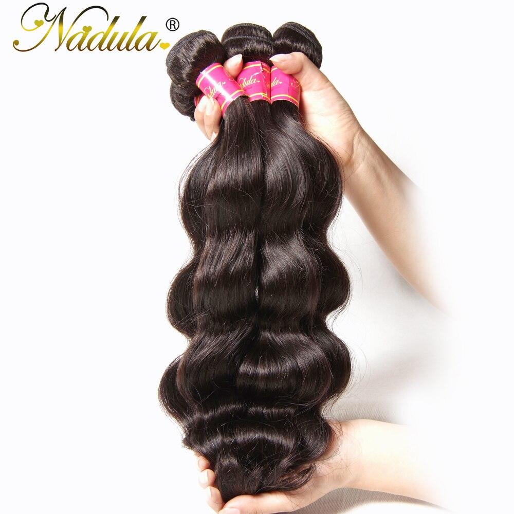 Nadula Hair Brazilian Body Wave Hair 100% Human Hair Weaves Can Mix Bundles Length Non Remy Hair Weft 8-30inch Natural...
