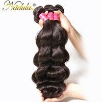 Nadula Hair Company Brazilian Virgin Hair Body Wave Bundles 100 Unprocessed Human Hair Extension Natural Color