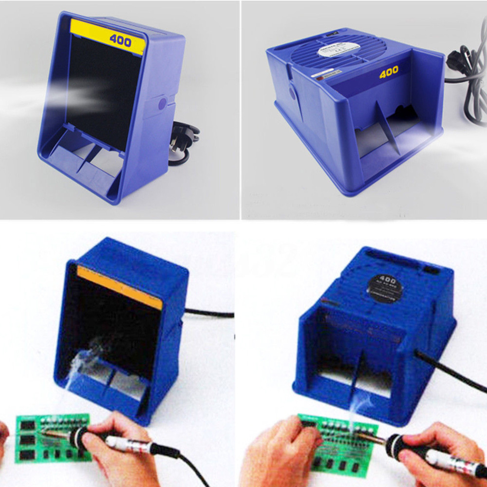 Fume Smoke Absorber Air Filter Fan For Soldering Practical Blue Absorber Remover Extractor 220V Fashion Useful Safely