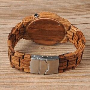 Image 5 - BOBO BIRD Zebra relojes de madera para hombre, de cuarzo, ligero, de madera, Vintage, analógico, de pulsera, indicadores luminosos