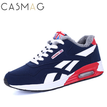CASMAG Winter Men Shoes Krasovki Running Shoes For Men Chaussures Homme Sneakers Shoes Sports Men Winter Running Shoes With Fur