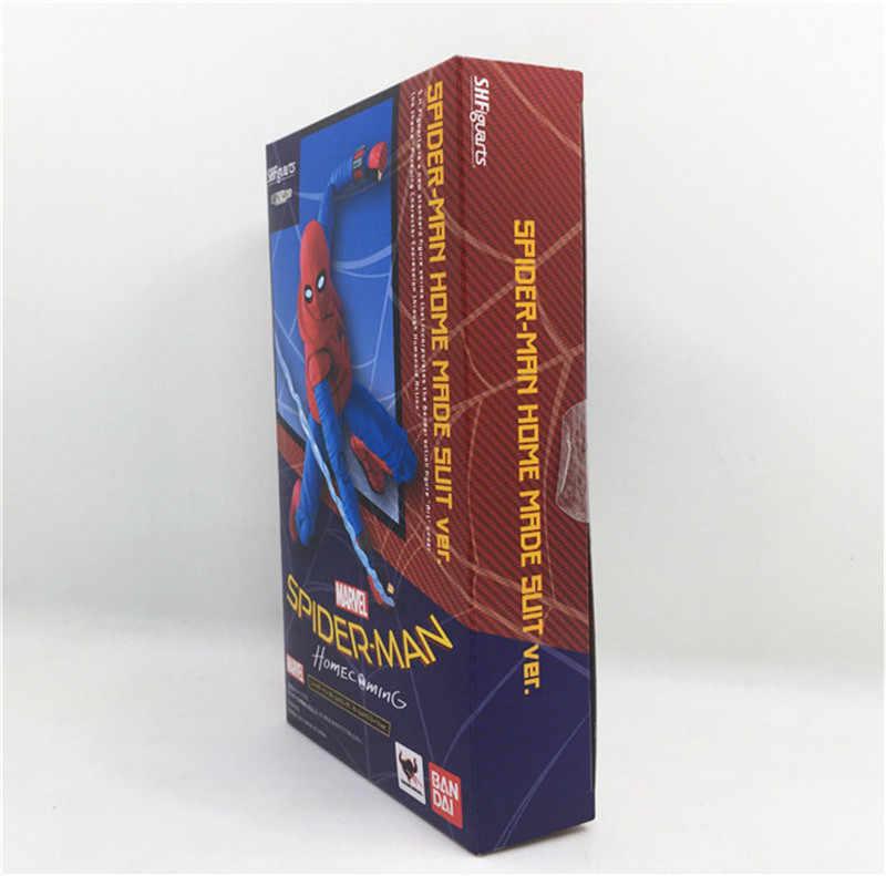 Homem aranha Feito Em Casa Terno Terno Ver. PVC Action Figure Modelo Brinquedos Filme de Super Herói Homem-Aranha Figuras Bonecas Menino Legal Cosplay Presente