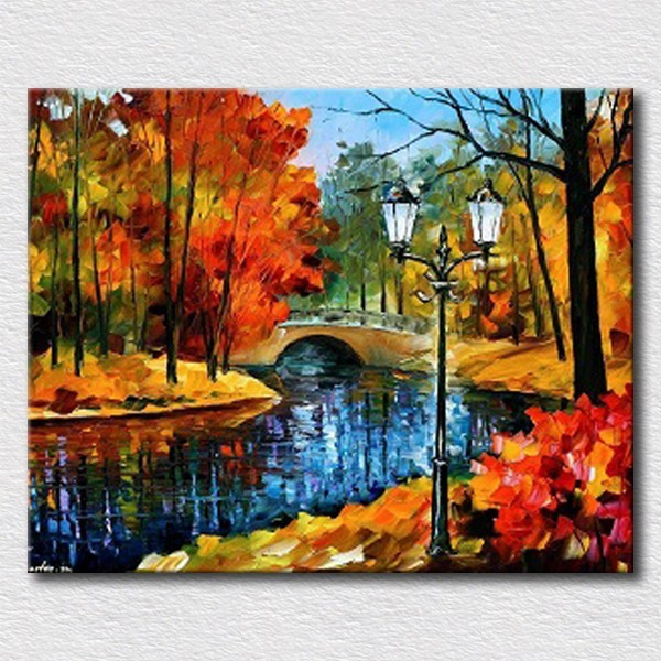 nice artwork living room modern cozy autumn landscape handpainted oil painting for bedroom decoration canvas wall art pictures