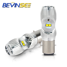 2x Bulbs Motorycle H4 Led Headlight Bulbs For POLARIS 340 1971-2008 Hi/Low Beam 1000LM 6000K White Auto Lamps