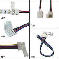 5-100 pièces LED connecteur fil 2pin 3pin 4pin 5pin 6pin connecteur Câble Pour WS2811 WS2812B 5050 RVB RGBW LED Lumière de bande