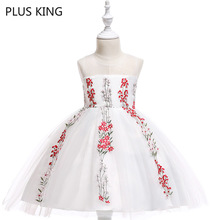 цены New Fashion Fairy Dress Sleeveless Girls Princess Dress Gauze for 4 To 10 Years Old Girl