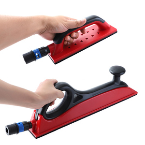 "Image 3 - Sanding Pad 1pc Sanding Block Hand Dust Extraction 5"" 16.5"" Grinding Holder Hook Loop Drywall Vacuum Polish Tools"