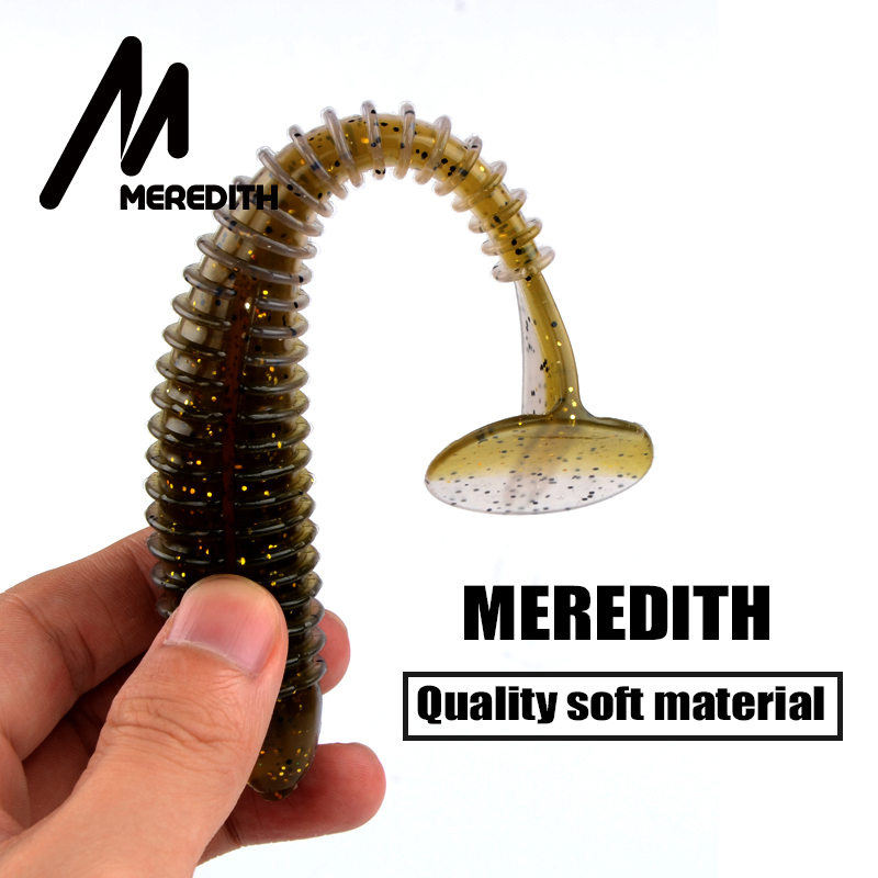 Meredith 6pcs 7.1 Tube Soft Bait Long Tail for Fishing Lure SwimBaits of Big Game Fishing for Any Fishing Rigs Free shipping