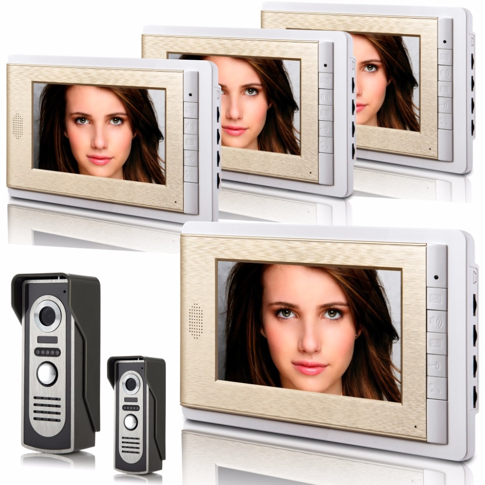 YobangSecurity Video Intercom 7 Inch Color LCD Villa Video Door Phone Doorbell Intercom Entry Monitor System For Home Security