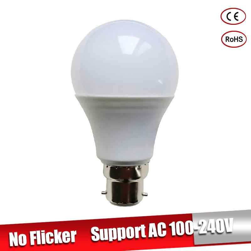LED Lamp B22 LED Lampada Ampoule Bombilla 3W 5W 7W 9W 12W 15W 18W High Brightness 220V 110V Cold/Warm White Led Light Bulb