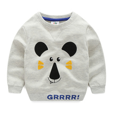 wt-6366 Baby sweater cartoon spring 2017 Korean version of the new boy's children's leisure long sleeved jacket