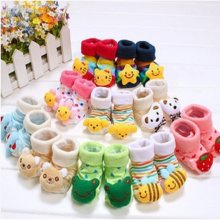 20 Designs Newborn Socks 0-12month Baby Anti-slip Animal Sock for girls Boots boys hose Top Quality(China)