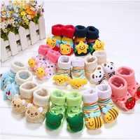 20 modèles chaussettes nouveau-né 0-12 mois bébé anti-dérapant Animal chaussette pour filles bottes garçons tuyau de qualité supérieure