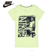 Nike women 's life printed pattern cotton breathable short -sleeved women' s T- shirt#534215-384