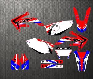 Image 1 - 05 12 CRF450X Frete 450X Personalizado Gráficos Da Motocicleta Kit Adesivos Decal Para Honda CRF 2005 2006 2007 2008 2009 2010 2011 2012