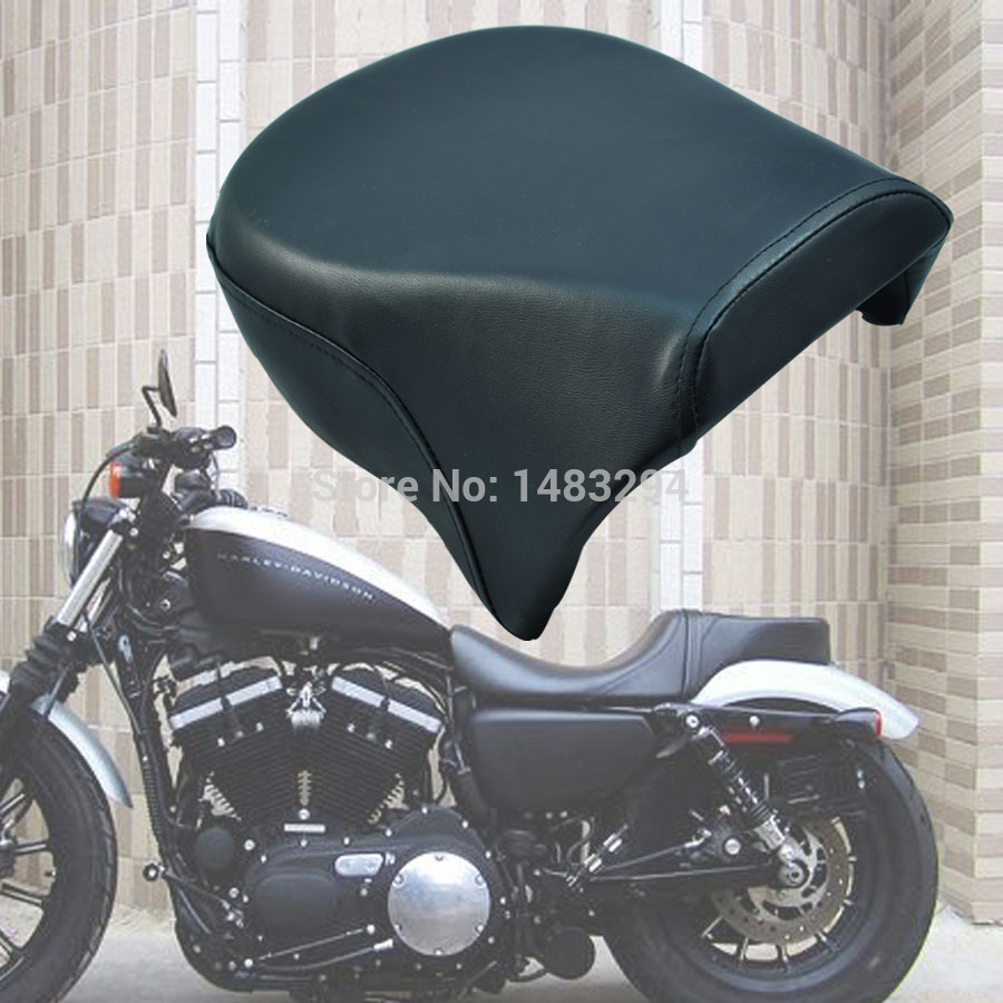 Rear Pillion Passenger Seat Fits For Harley Sportster 883C 883 883N XL1200 2007-2014 universal black synthetic leather rear rivet passenger seat for harley sportster xl883 48 1200 2004 2015 c 5