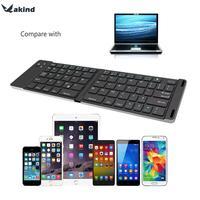 Tableta Teclado Bluetooth Teclado plegable Bluetooth 3.0 Teclado Portátil para el iphone iPad IOS Android Windows Tablet PC
