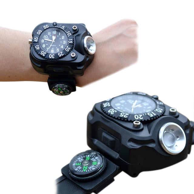 LED Waterproof Indicator Shows Rechargeable Watch Flashlight #3392 Brand New High Quality Luxury Free Shipping