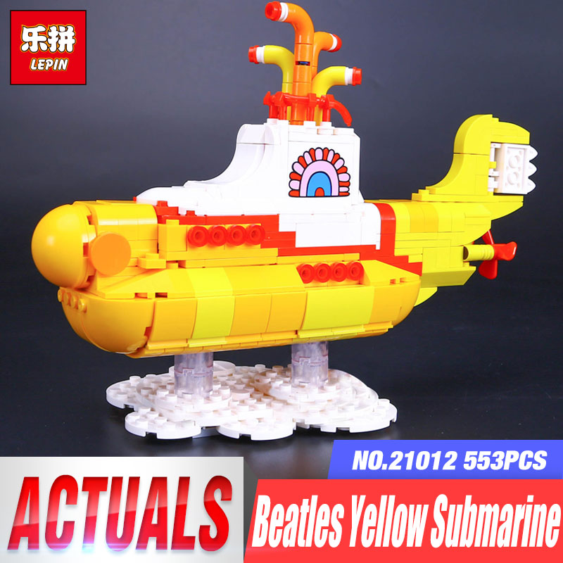 LEPIN 21012 Builder The beatles yellow submarine With 21306 Building Blocks Bricks Policeman Toys Children Educational Gift Toys lepin 21012 builder the beatles yellow submarine with 21306 building blocks bricks policeman toys children educational gift toys