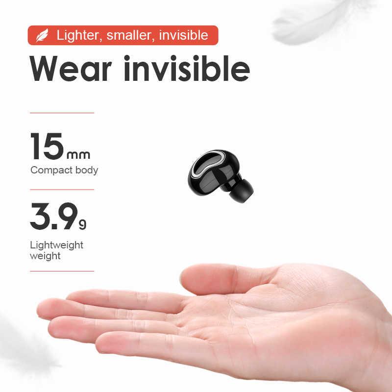 SANLEPUS Мини Bluetooth наушники беспроводные наушники Handsfree вкладыши с микрофоном/зарядная коробка для телефонов iPhone samsung xiaomi