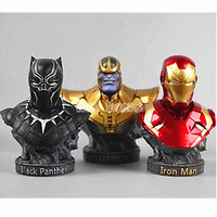 New 18cm Avengers Collection Statue Resin Bust iron Man Black Panther Thanos Action Figure The Avengers Statue Decoration Models