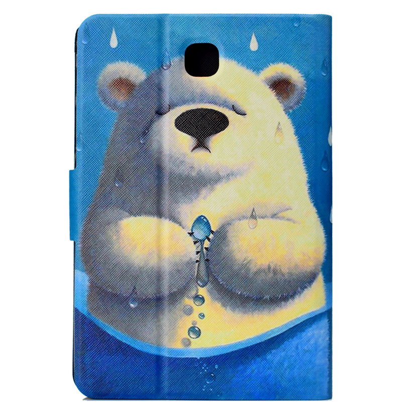 Printed Bear Case For Samsung Galaxy Tab A 8.0 Inch T350 T355 P350 P355 SM-T350 Cover Smart Cases Funda Tablet Stand Shell