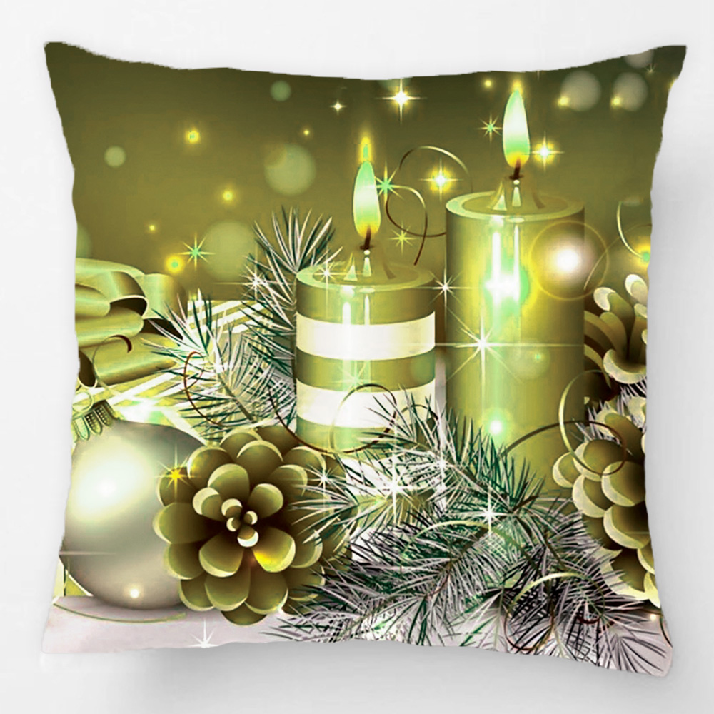 Gorgeous Gold Christmas Cards Gifts Throw Pillow Case Decorative Cushion Cover Pillowcase Customize Gift By Lvsure For Sofa Seat