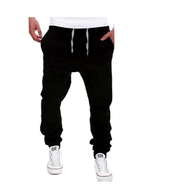 2020 Brand mens Casual Tethered elastic waist trousers Solid color Beam foot pants hip hop Pencil pants male Sweatpants 6 colors 6