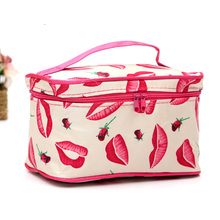 HLDAFA 2017 Fashion High Capacity Beautician Professional Cosmetic Storage Cosemtic Bag Organizer Makeup Bag Womens Cosmetic Bag