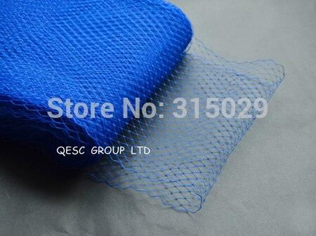 Новая птичья клетка материал для millinery sinamay шляпа церковная Шляпа Чародей, 10 ярдов/партия, серебряный цвет - Цвет: royal blue