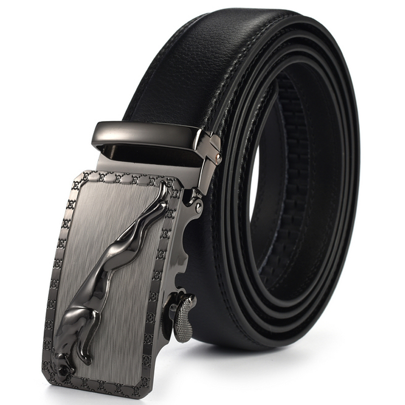 Men's leather   belt   men automatic metal buckle high quality cowhide strap male for jeans cowather luxury famous brand designer