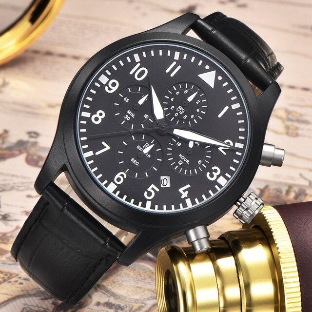 cef6798037f Benyar homens esportivos da marca de moda relógio à prova d  água 30 m  militar