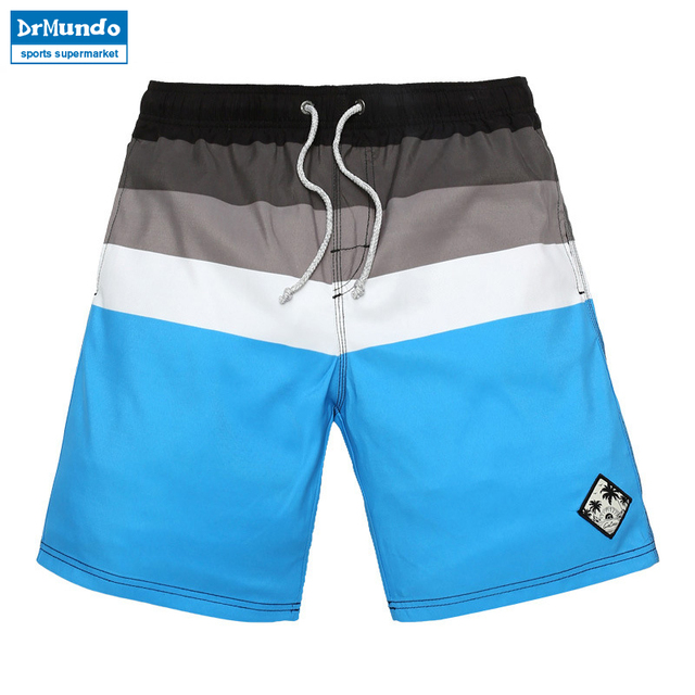 99f9bd195f Board shorts men swimming trunks Blue striped patterns mens Sport  bodybuilding Surf running short joggers bermudas masculina