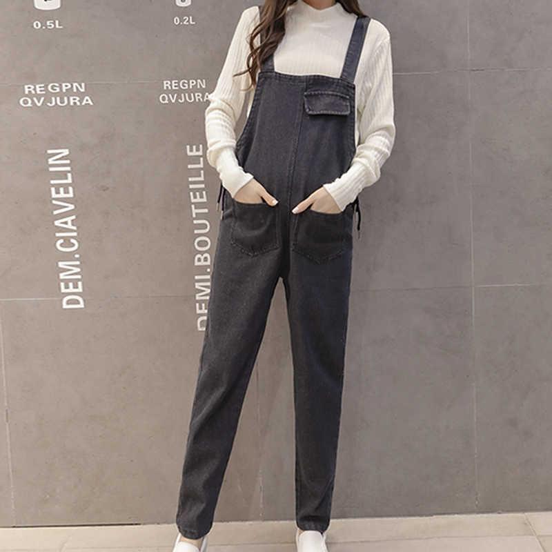 8b27cbee167 ... Maternity Plus Size Denim Jumpsuit Pants Fashion Romper Pregnant Women  Overalls Korean Plus Size Jean Jumpsuit ...