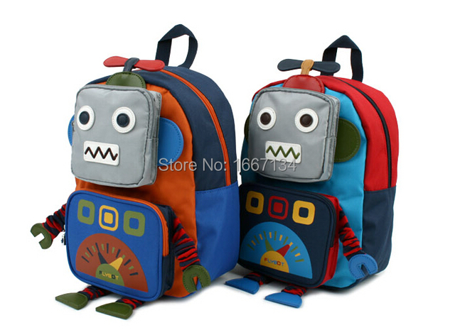 6e16341d2ab5 NEW Fashion School bag Boy Cartoon Backpack for Kids school bag Robot  Korean version of the