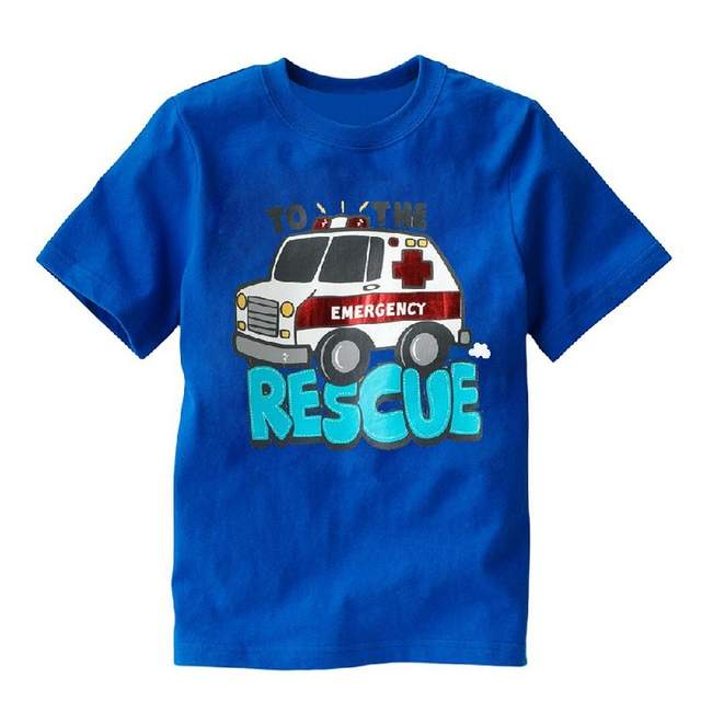 Online Fire Engine Rescue Boys T Shirts Truck Baby Clothes Short Sleeved Tee Children Clothing Shirt Tops Aliexpress Mobile
