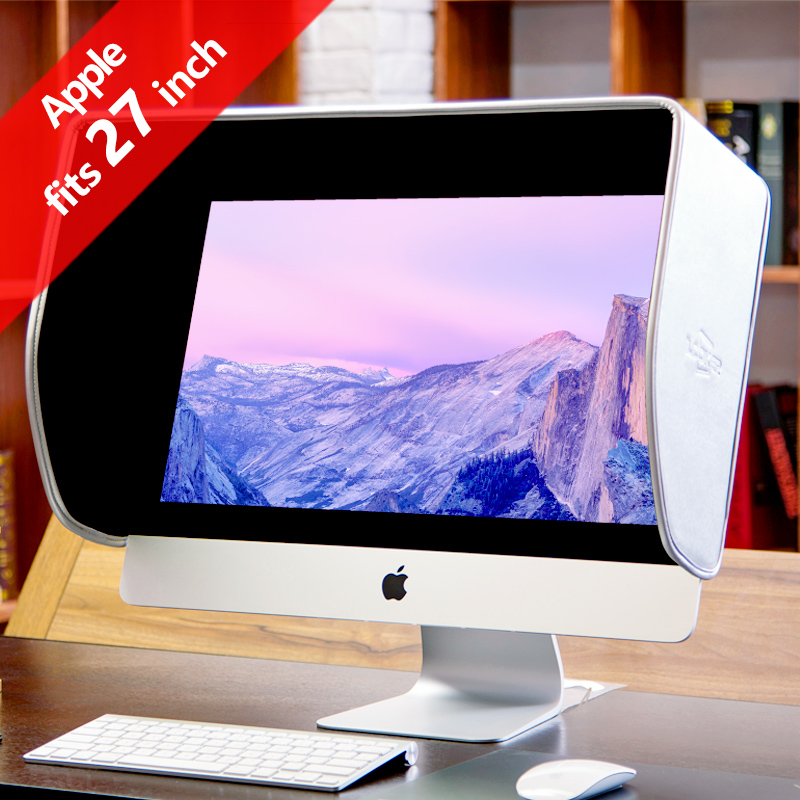 iLooker 27A 27 inch iMac & 27 inch Monitor Hood Sunshade Sunhood Silver Edition for Apple iMac and Apple Monitor both new(thin) image