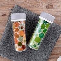Thiết kế ngắn gọn không gian thể thao mùa hè chai gốm Inner container leakproof nhựa cầm tay chai