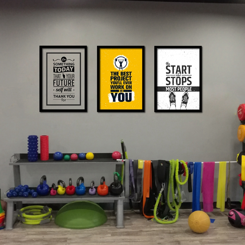 Home Gym Wall Art Poster Kanvas Lukisan, Kebugaran Motivational Penawaran Art Cetakan Gambar Gym Modern Dekorasi Dinding