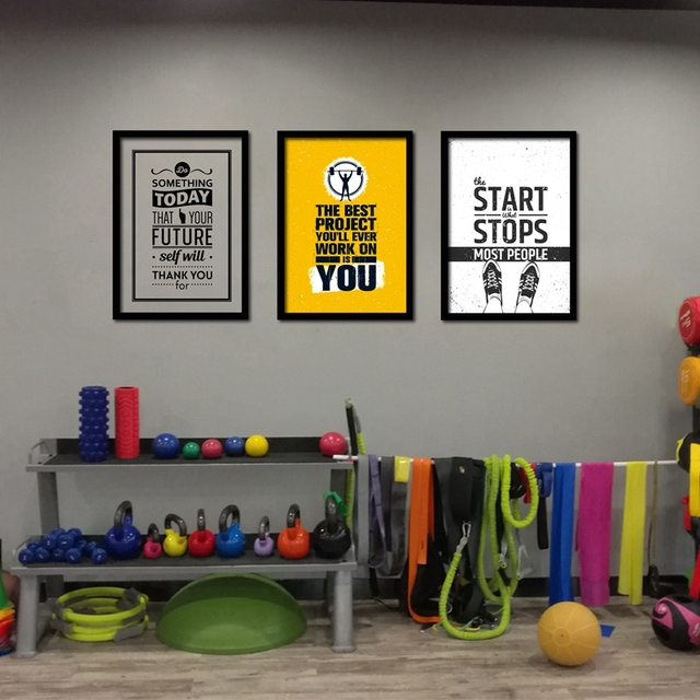 Home gym wall art poster canvas painting motivational
