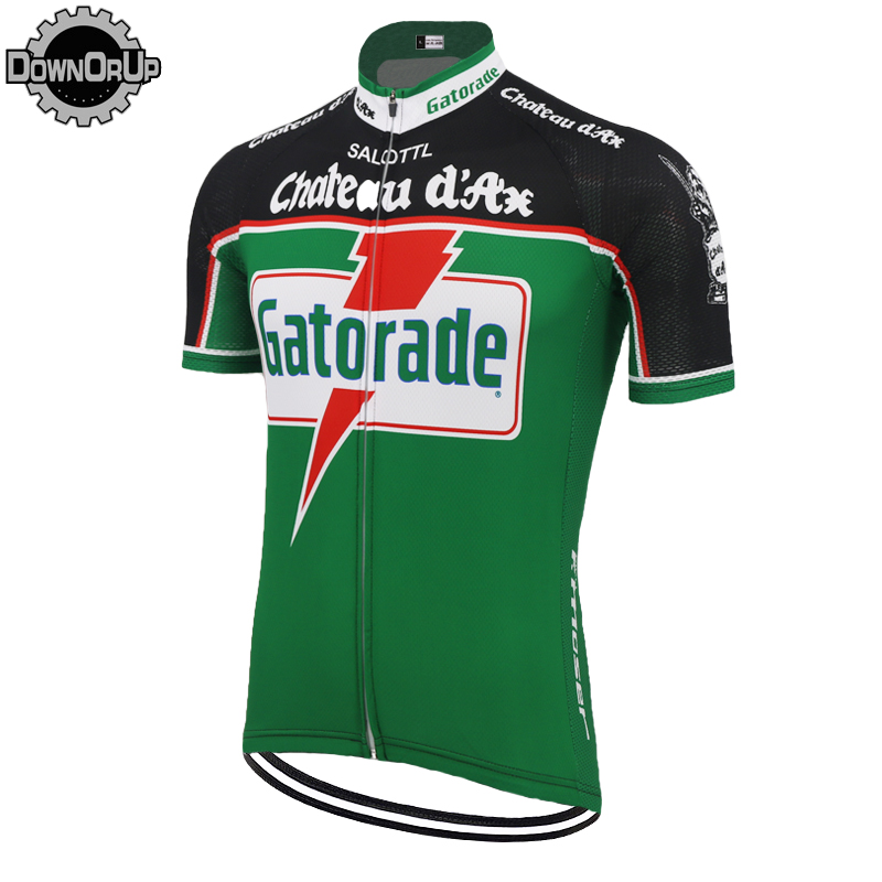 American sports brand GATORADE men cycling jersey Summer GREEN racing bicycle clothes Maillot ciclismo Race pro ropa CiclismoAmerican sports brand GATORADE men cycling jersey Summer GREEN racing bicycle clothes Maillot ciclismo Race pro ropa Ciclismo