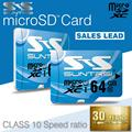 Suntrsi Micro SD Card 64GB Class 10 Memory Card Real Capacity High Speed Microsd 64GB TF Card Microsd Card