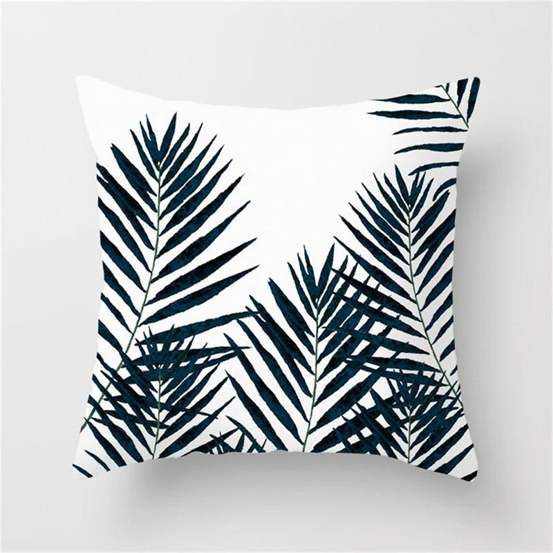 Fuwatacchi Tropical Print Cushion Cover Plant Green Leaf Throw Pillows Cover for Home Sofa Chair Decorative Pillows 45 45cm in Cushion Cover from Home Garden