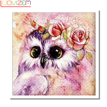 Diamond Embroidery Cute Owl Diy 5D diamond painting full square Crystal Cross Stitch Wall Decor L209