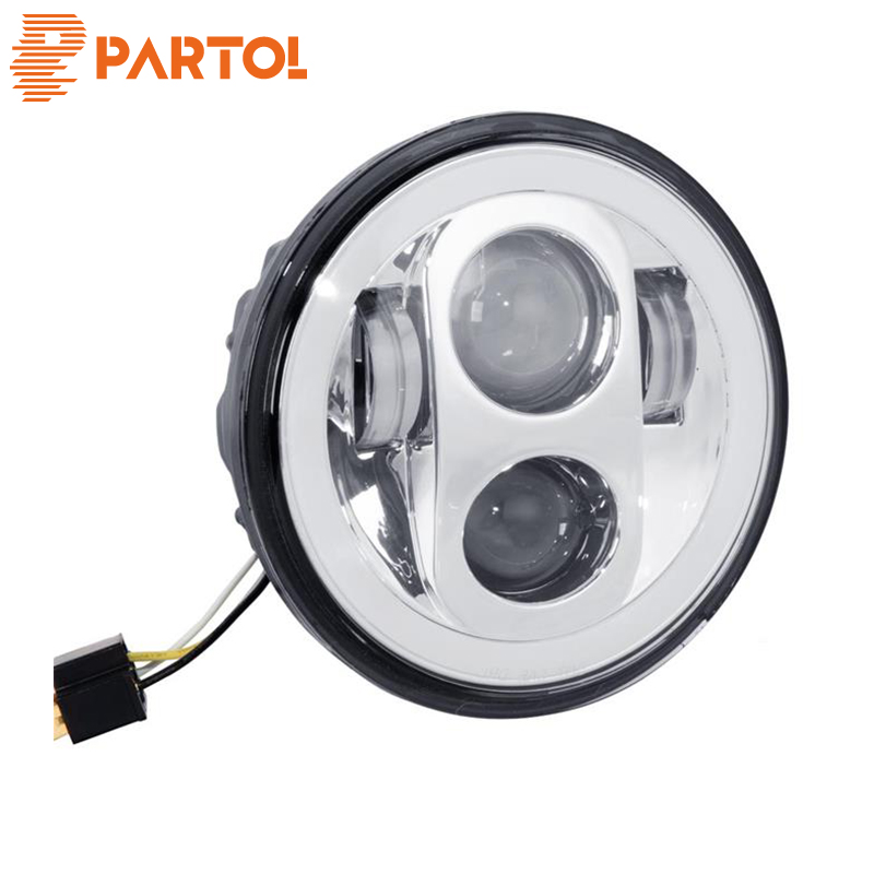 Partol 5 3/4 Motorcycle LED Headlight Headlamp Projector Halo ForNight Train 2000 2005 & 2007 2009, Night 2006 11
