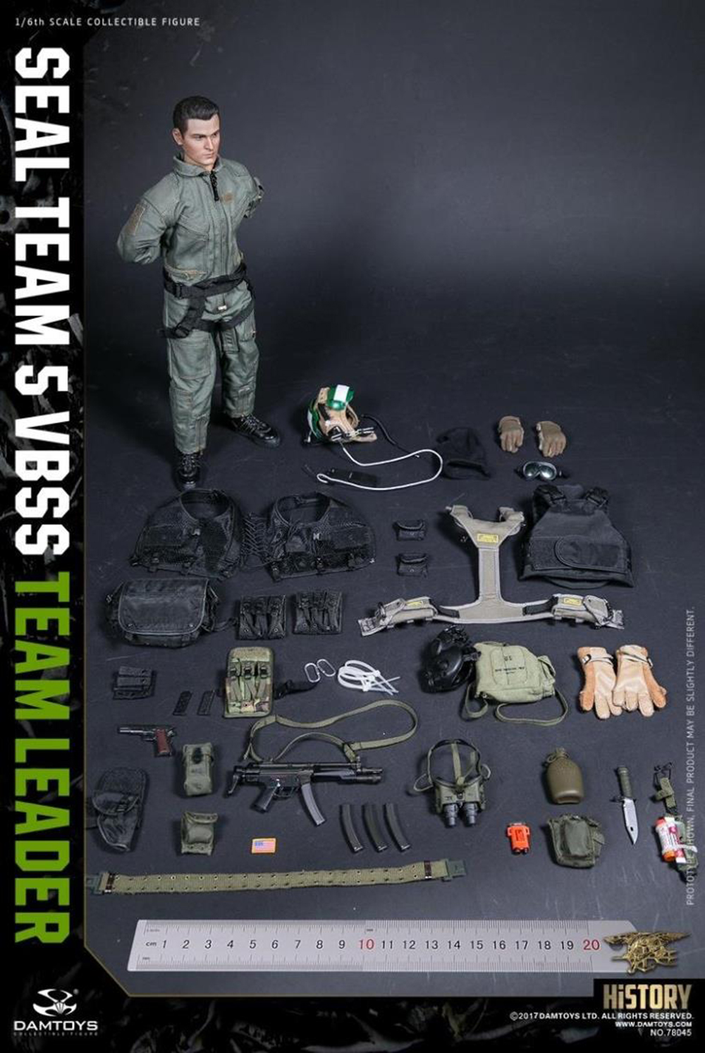 Damtoys Action Figures VBSS Team Leader Combat Boots for Feet - 1//6 Scale