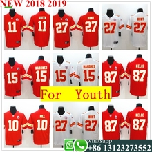 b5a02321b 2018 Youth Kansas City Patrick Mahomes II Travis Kelce Kareem Hunt Tyreek  Hill Vapor Untouchable Limited Player Jersey Shirts