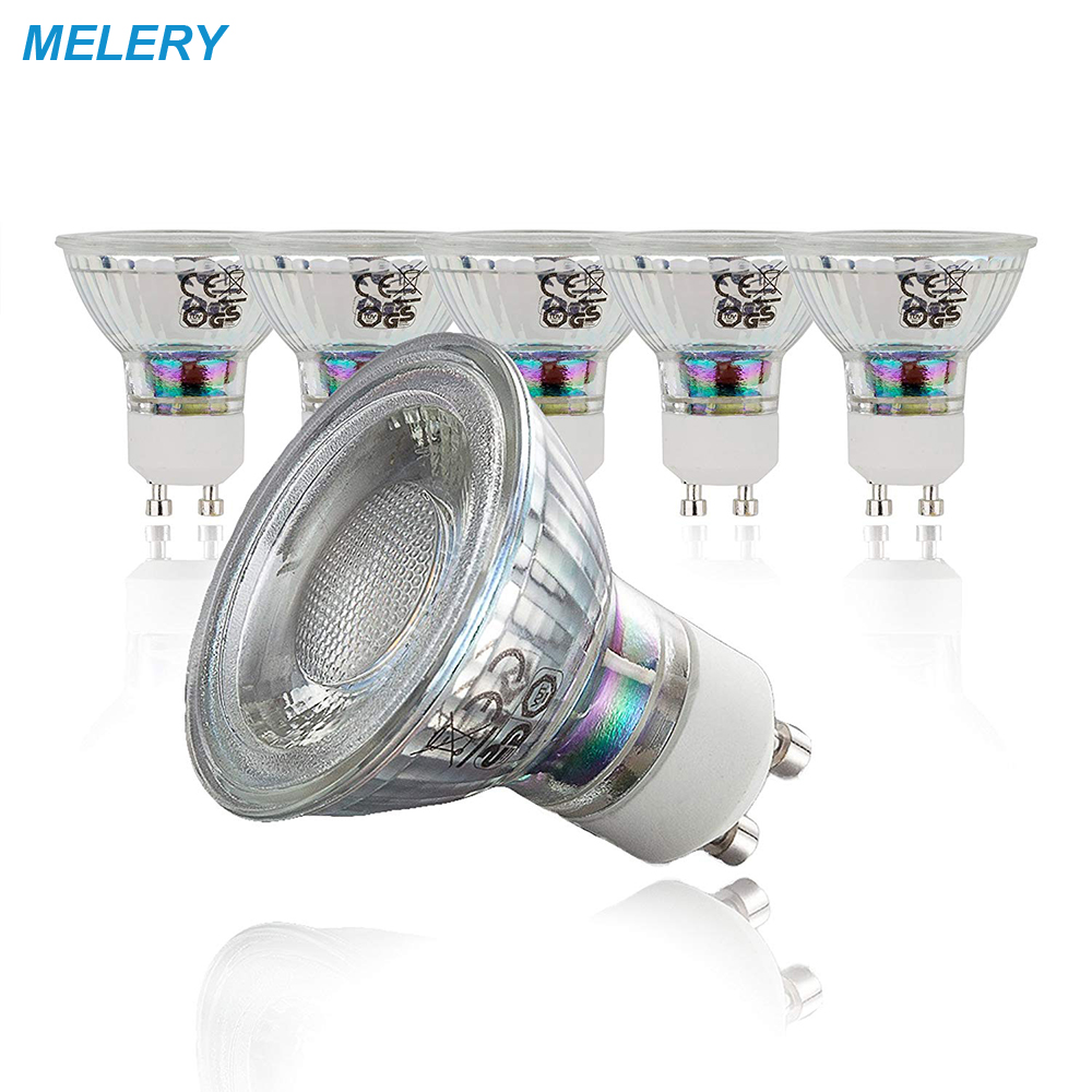 LED Light Bulb GU10 LED Lamp 5 Watt SpotLight AC100-265V 400 Lumens 50W Equivalent Warm White 3000 K Light Cup Spotlight-5PACK